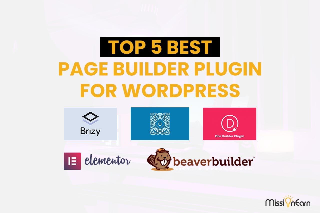 Top 5 Best Page Builder Plugin For WordPress 2021